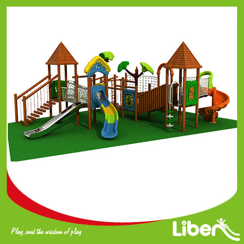 Liben Customized good reputation outdoor playground with swing made in china