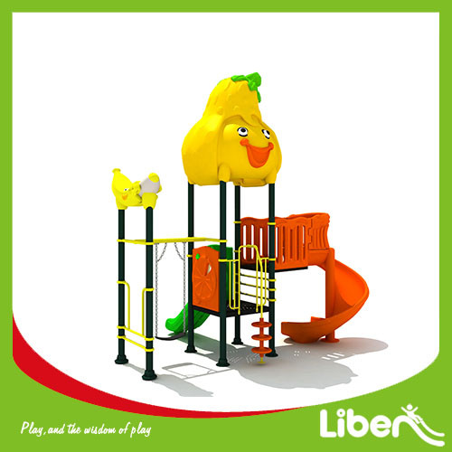 2017 Liben Customized good reputation outdoor playground with swing made in china
