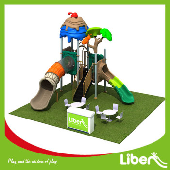 China commerical used high quality outdoor playground equipment with plastic slide for sale