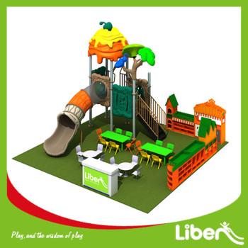 Outdoor Playground Type and Plastic Playground Material Plastic orange slide and swing