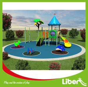 Factory price kids swing and slide outdoor playground equipment