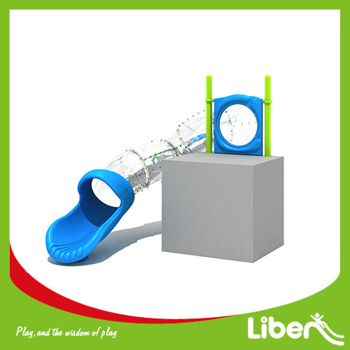 China new kids outdoor games playground equipment tube slide for sale