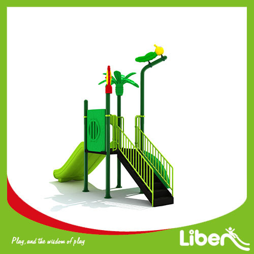 China green new kids outdoor games playground equipment with slide for sale