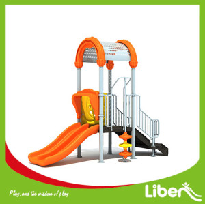 China new customized kids outdoor games playground equipment with slide for sale
