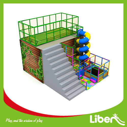 Outdoor fitness customize soccer with tube slide