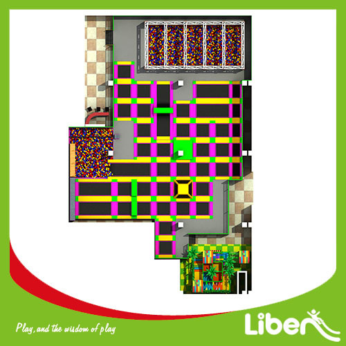 China Factory Price Large Indoor Amusement Trampoline Jumping Park Supplier