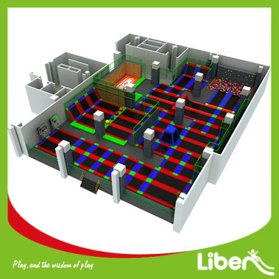 Factory Price Large Indoor Amusement Trampoline Jumping Park Supplier