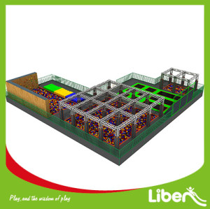 Large Indoor Amusement Trampoline Jumping Park Supplier