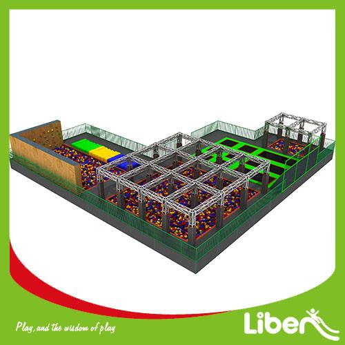 Large Indoor Amusement Trampoline Jumping Park Supplier