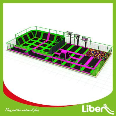 Funny Large Indoor Amusement Trampoline Jumping Park Supplier