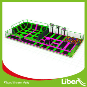 Funny Large Indoor Amusement Trampoline Jumping Park Supplier