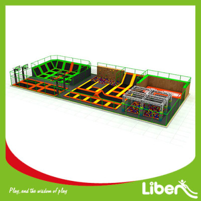 Commercial Large Indoor Amusement Trampoline Jumping Park Supplier