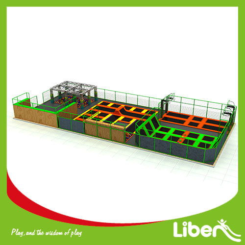 Commercial Large Indoor Amusement Trampoline Jumping Park Supplier