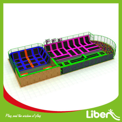 Commercial indoor Amusement Trampoline Jumping Park Supplier