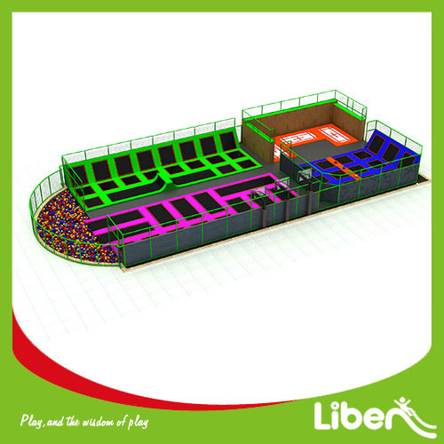 Commercial indoor Amusement Trampoline Jumping Park Supplier