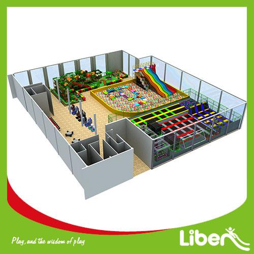 Commercial indoor Amusement Trampoline Jumping Park