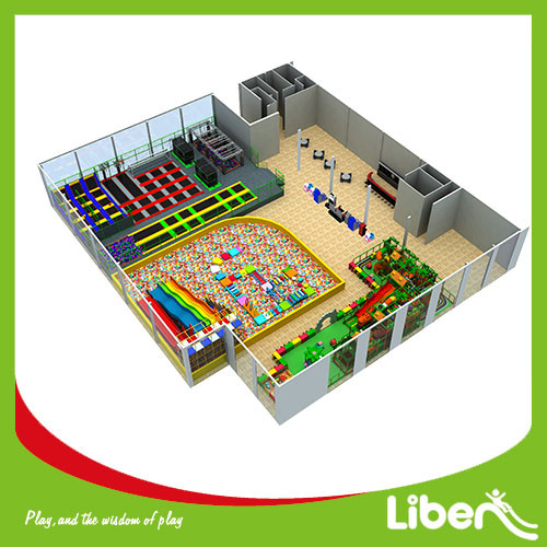 Commercial indoor Amusement Trampoline Jumping Park