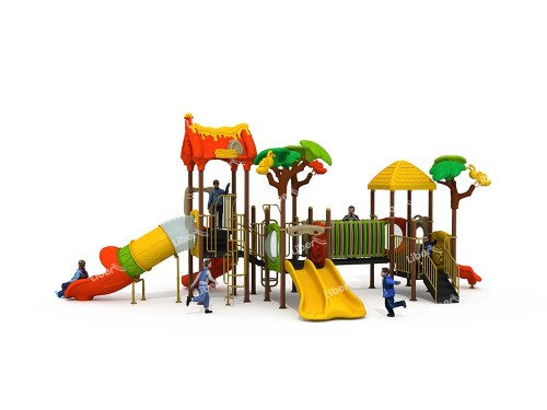 Combined Slide Commercial Playground Facilities Outdoor Activity Places