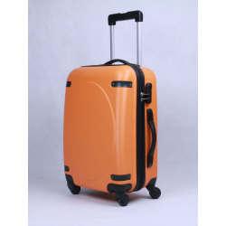 Hardside Luggage with Leather Decoration
