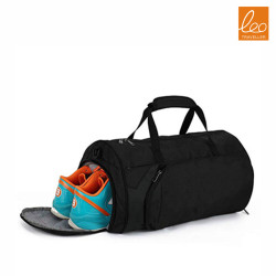 Packable Sports Gym Bag with Wet Pocket & Shoes