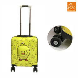 Kids Luggage Trolley Bag yellow duck Style