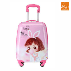 Kids Luggage Trolley Bag lovely girl Style