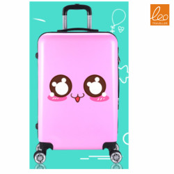 Kids Luggage Trolley Bag Smile Face Style