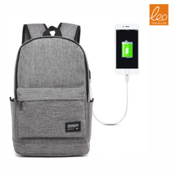 Men's Business Rechargeable Backpack Canvas Bag