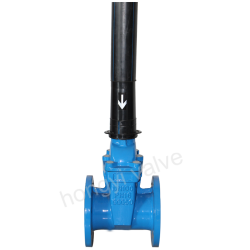 Extension spinle gate valves