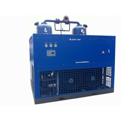 Air cooling refrigerated and desiccant combining air dryer for air compressor