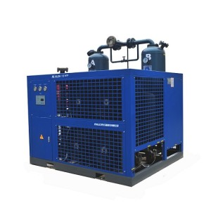 Industrial air cooled combining air dryer