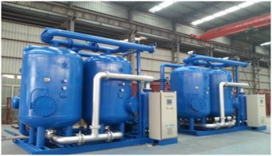 Desiccant adsorption air dryer SDXY-250,compression heated air dryer with air comsumption