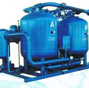 Lower energy loss blower type adsorption air dryerr with zero purge consumption