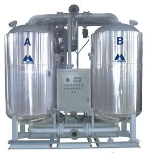 Blower heated desiccant air dryer