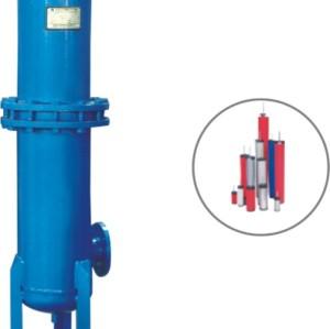 Oil eliminator with little pressure drop