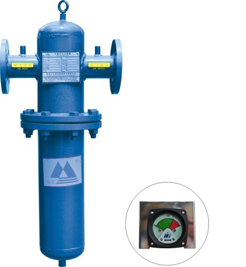 Spray powder air cartridge filter with less air consumption
