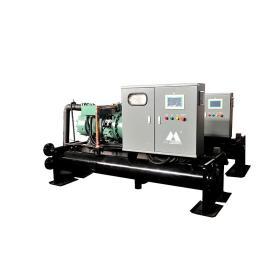 Water chiller with hermetic or semi-hermetic screw compressor