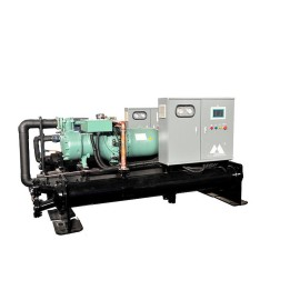 The third generation section bar oxidation direct cooling type flooded screw water chiller (Single Compressor/ 7 Deg C)