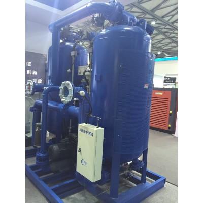 Zero air loss blower heat regeneration desiccant air dryer