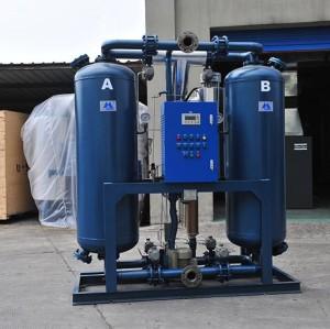 externally heat-regenerative blower purge desiccant dryers