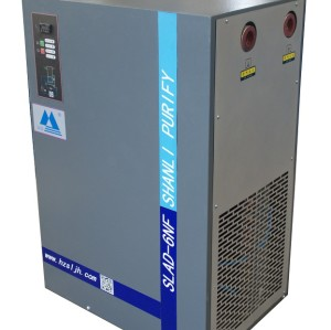 Dew Point 3-5 C Plate Fin Type Heat Exchanger Refrigerated Air Dryer