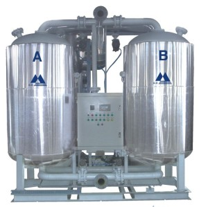 heated adsorption air dryer desiccant compressed air dryer