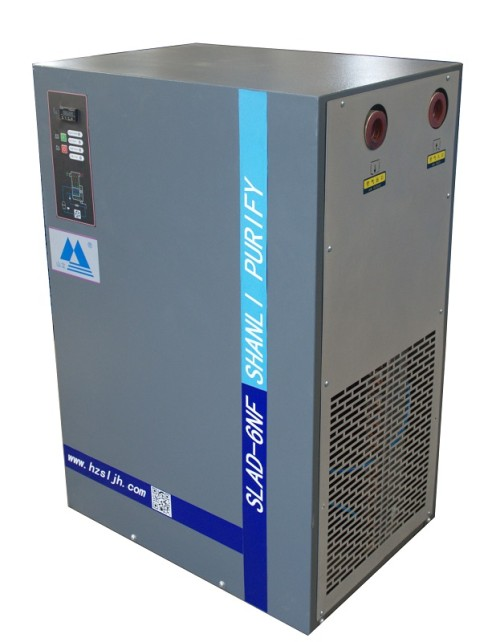 Refrigerated air dryer with R134A refrigerant