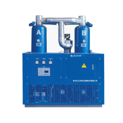 Air cooled refrigerated combined compressor air dryer