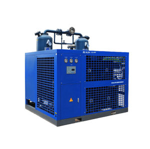 Air cooled refrigeration and desiccant combining air dryer