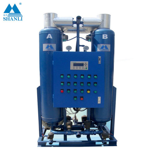 6 ~ 10 bar heatless desiccant air dryer with CE industrial desiccant dehumidifier dessicant air dryer