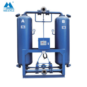 Shanli 4.8Nm3/min air capacity heatless absorption regenerative air dryer with Energy Management System
