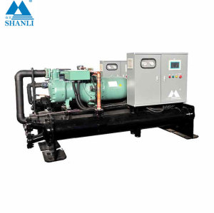 High efficient flooded type screw style water cooled chiller (Single Compressor/ 7 Deg C)