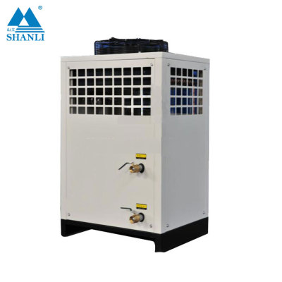Water-cooled water chillers using a single closed-loop design for pressurized refrigerant