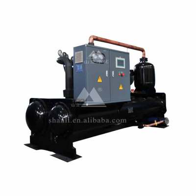 Industrial scroll type water-cooled chiller for pasteurized milk and juice line
